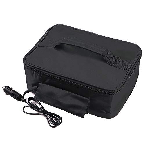 Keyzone Scaldavivande Borsa Termica Elettrica per Contenitore Auto Mini Riscaldatore per Cibo 12V Nero