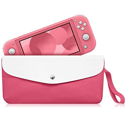 Fintie Tragetasche für Nintendo Switch Lite 2019 – Tragbare Reisetasche Schutzhülle mit Seitentasche, Spielkartenschlitzen, Haltegurt für Nintendo Switch Lite und Zubehör, Living Coral