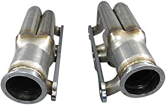 CXRacing Twin Single Turbo Header for Small Block Chevy SBC GM 265 283 302 305 307 327 350 400