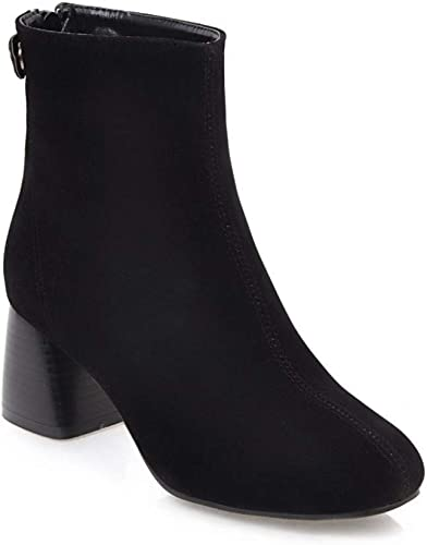ZHRUI Stiefel para damen - Simple Plus Velvet Thick con tacón Alto Stiefel de Gamuza Mate Stiefel para damen   34-43 (Farbe   schwarz, tamaño   41)