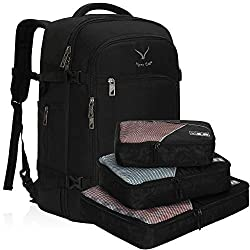 powerful Hines Eagle Travel Backpack 40L Airworthiness Carrier Backpack, Black, with 3 Parts Packing Cube …