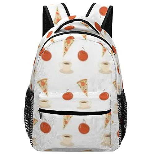 Mochila de pizza para mochila para niños y niñas
