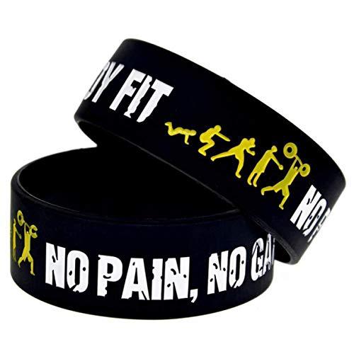 RALC Silikon-Armband für Sport, Schule, Arbeit, Keine Schmerzen, kein Gewinn, Herren, Schwarz