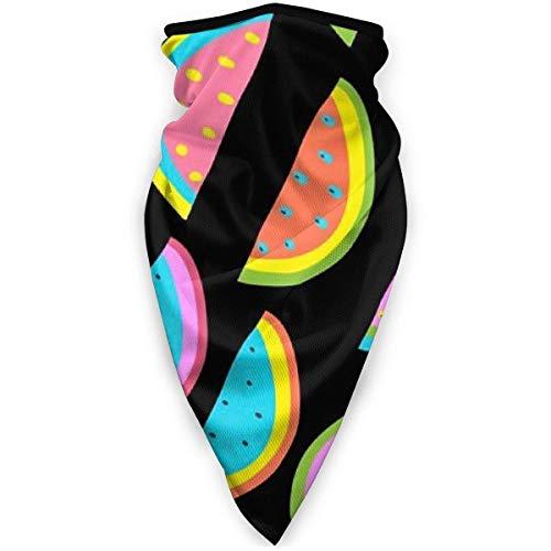 Leichte weiche Anti-Staub-Sturmhaube, buntes Wassermelonenfrucht-Thema Grafik-Tube-Gesichtsschal-Bandana, kundenspezifischer nahtloser Hals-Buff für Festival-Spaziergänge
