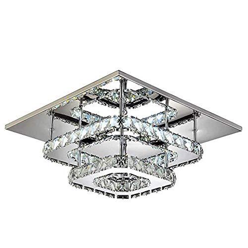 Iluminación de Cocina para el hogar Colgante Araña de cristal, moderno y noble cristalino de la lámpara de iluminación encastrado en el techo de instalación de la lámpara de la lámpara del restaurante