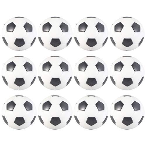 LIOOBO 12 Piezas Mesa Mini Pelotas de Fútbol Balones de Fútbol de Futbolín de Mesa para Niños Adultos Actividades Deportivas (32 mm)
