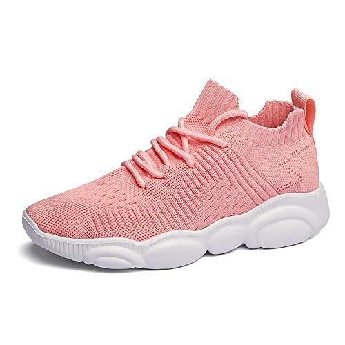 Niños Zapatos Deportivos Running Zapatillas Unisex Deporte Sneakers Ligero Rosado 34 EU