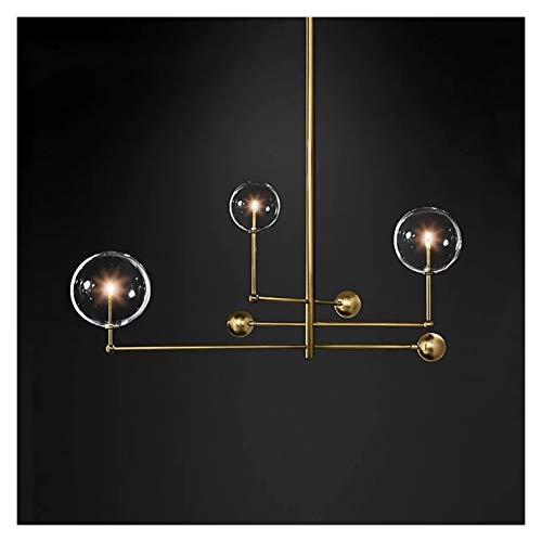 JINGYANBH Lámpara de Techo LED Postmoderno LED araña de Techo Sala de Estar Luces Colgantes Luces para el hogar Lámparas de Comedor nórdico Lámparas Colgantes de Vidrio Iluminación