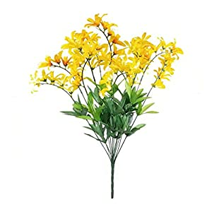 GF Artificial Silk Flowers Yellow Freesia Bush Artificial Silk Flowers 22″ Bouquet MG019