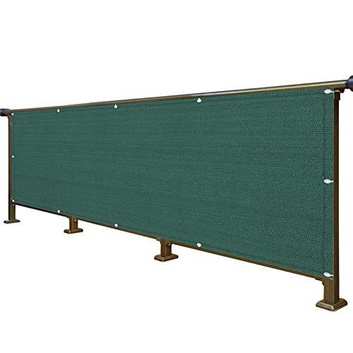 WUZMING Pantalla para Balcón Protección Exterior Valla 90% Bloqueo Resistente A Los UV Parabrisas con Cuerda & Corbata HDPE Resistente Al Desgarro, Altura 75cm/90cm