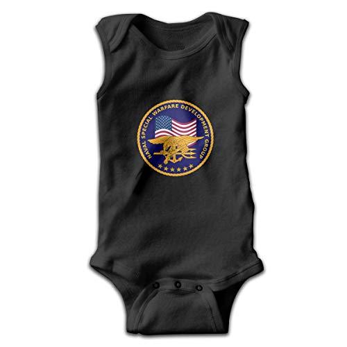 Klotr Naval Special Warfare Development Group Bebé recién Nacido Body sin Mangas Mamelucos Trajes