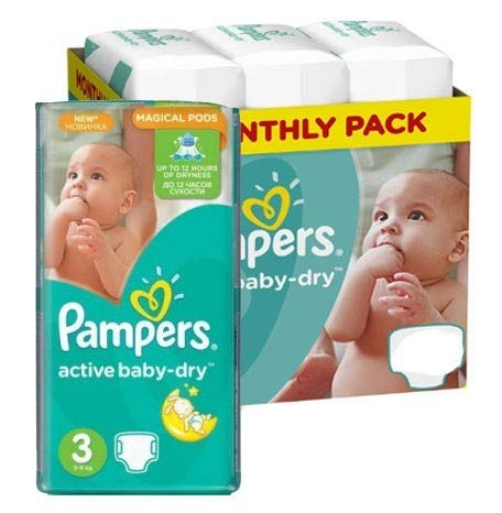 Couches Pampers - Taille 3 active baby dry - 340 couches bébé