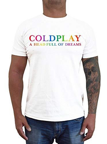 Coldplay Logo ver. 3 Singer T-Shirt (Black, White) S-5XL