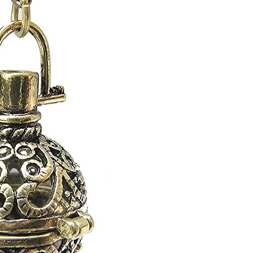 chaosong shop Caja de deseo ecaán, orbe de bronce antiguo, caja de oración, llamador de ángel, bola de armonía, medallón de mensajes