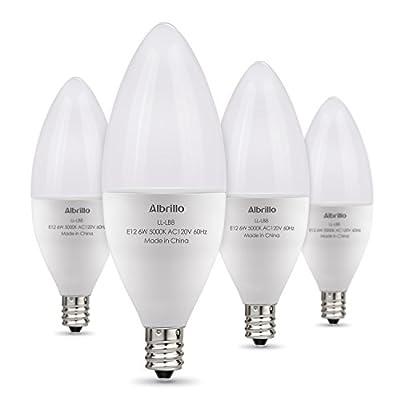 Albrillo E12 Bulb Candelabra LED 6W, 60 Watt Equivalent