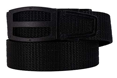 Nexbelt 2019 Titan Black Men's EDC Tactical Belt Ratchet System Technology Mens Nylon Gun Belts (Black, Medium)