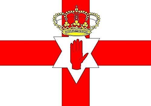 U24 Aufkleber Nordirland Flagge Fahne 8 x 5 cm Autoaufkleber Sticker