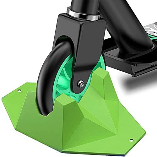 Base de Scooter Universal, Base Estable, Adecuada para Scooter Profesional, Almohadilla para buje de Bicicleta. Adecuado para Ruedas de 95 mm a 120 mm, Adecuado para la mayoría de Scooters (Verde)