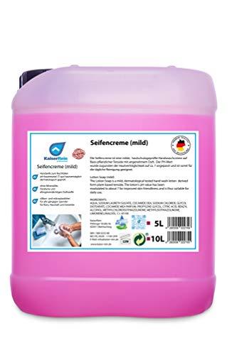 KaiserRein Seife 5 L Kanister Nachfüll-beutel Flüssig-seife ohne Mineralöle, Parabene und allergieverdächtigen Duftstoffe