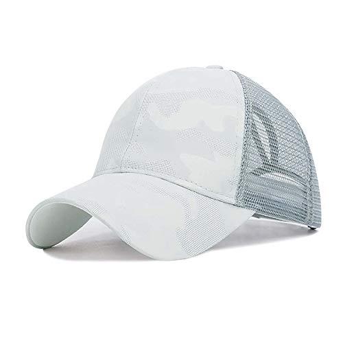 YMYGBH Sombreros para El Sol Ejecución Cap Mujeres Parasol Transpirable de algodón Cola de Caballo Sombrero Headwear de Deportes al Aire Libre de protección Solar con el encierro Trasero Ajust