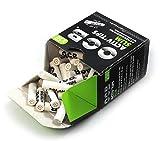 OCB ActivTips Slim - Filtros de carbón activo (7 mm, con tapas de cerámica, 50 unidades), color plateado