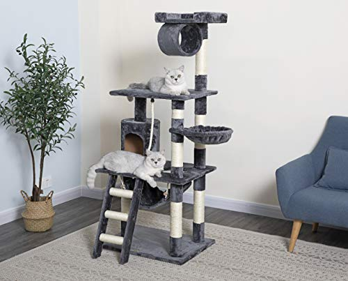 """Go Pet Club 62"""" Classic Cat Tree with Sisal Covered Posts"""