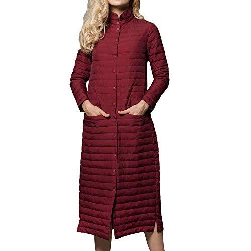 Lichtgewicht donsjack dames dames opvouwbare donsjas winter warm staande kraag lange donsjas Fashion Completi Fashion 2019 vrouwen kleding
