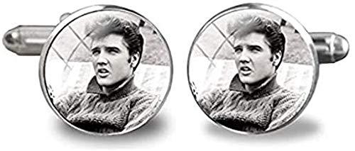 Manschettenknöpfe, Elvis Presley, Elvis Presley, Rockmusik-Sänger, Glas, für Herren