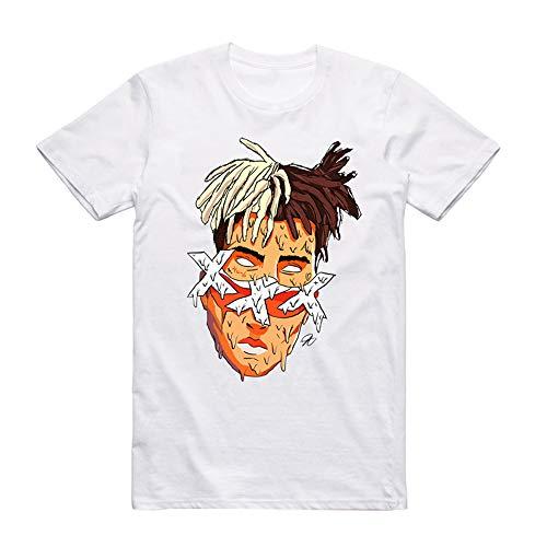 Xxxtentacion Camiseta Cuello Redondo Simple Impreso Manga Corta Camiseta clásica Top de algodón Puro Unisex