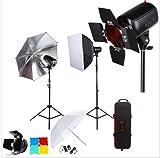 Gowe Professional Photography Photo Studio Speedlite éclairage lampe kit avec ensemble de 300W Flash de studio Strobe support de lampe à lumière