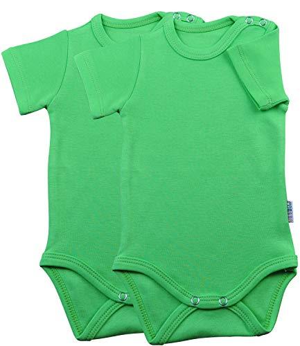 Princess Taufkleid Kurzarm-Babybodys 2er Pack grün Grösse 86 Body Unisex 100% Baumwolle Druckknöpfe