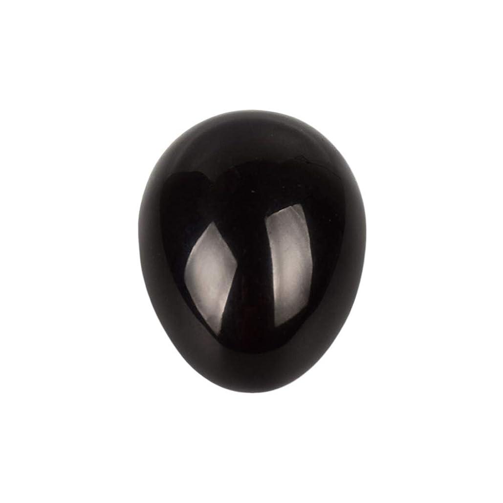 ブルジョン内向き手錠SUPVOX 45×30×30ミリメートルのバランスをとる瞑想チャクラを癒すための黒曜石宝石用原石の卵球