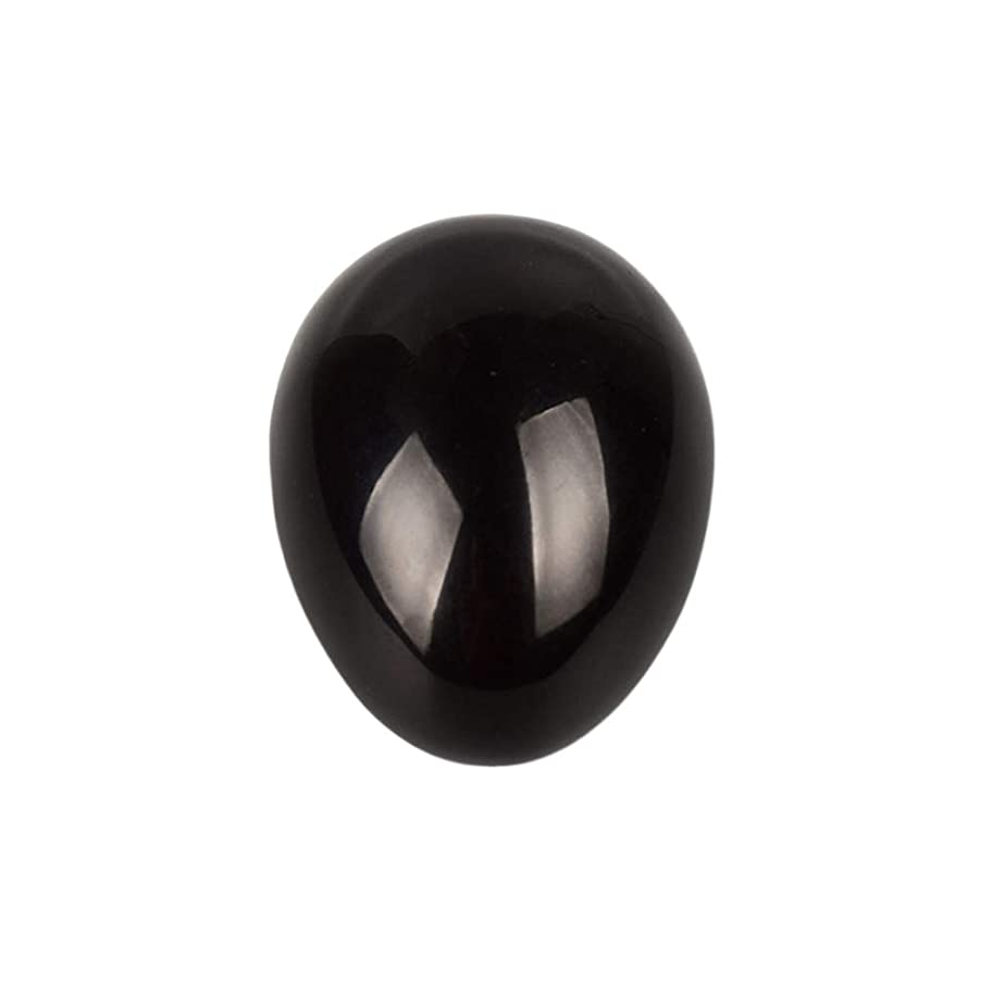受け皿あらゆる種類の売り手ROSENICE 瞑想チャクラバランスのための黒曜石の卵の球
