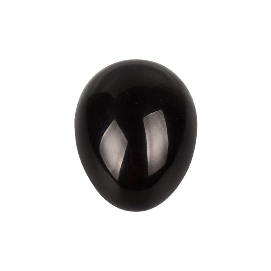 教養がある王朝みすぼらしいSUPVOX 45×30×30ミリメートルのバランスをとる瞑想チャクラを癒すための黒曜石宝石用原石の卵球