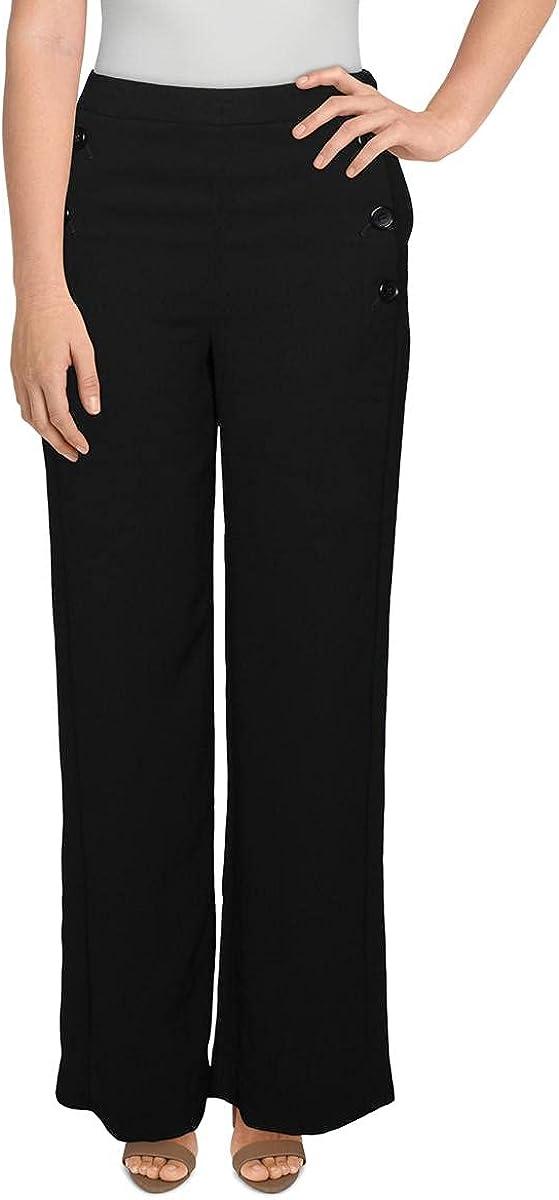 DKNY Womens Day to Night Work Wear Wide Leg Pants