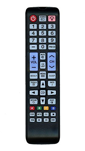 Replacement Remote Controller fit for UN24H4000 UN24H4000AF UN28H4000 Samsung LED TV (2014 Model)