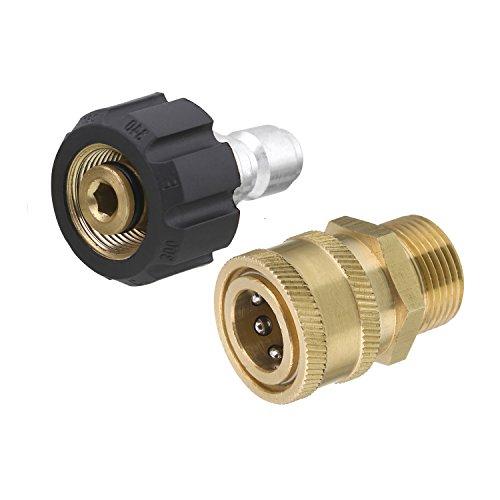 Tool Daily Hochdruckreiniger-Adapter-Set, Schnellanschlusskit, M22 14 mm Drehgelenk auf M22 metrische Fassung, 5000 PSI