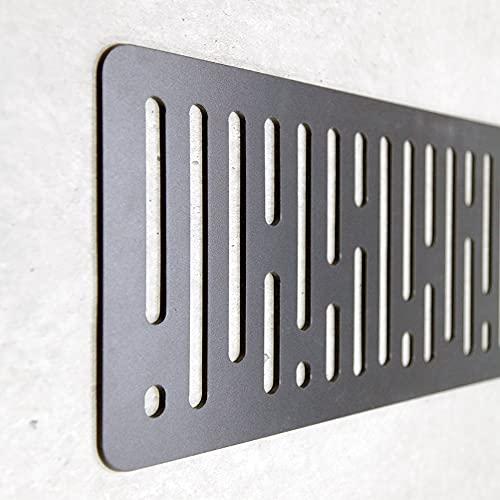 Cabecero Cama Decorativo Económico en PVC - Tipo Forja. Modelo - Germany (150cm x 60cm, Negro)