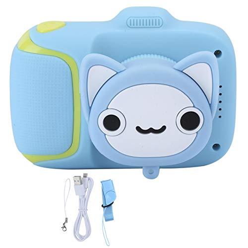 FOLOSAFENAR Cámara de Juguete para niños de 2.0 Pulgadas Cámara de Video para niños Uso Duradero 2-3 Horas con Juegos de Rompecabezas para 10 Idiomas(Blue)