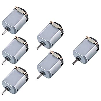 Topoox 6 Pack DC 1.5-3V 15000RPM Mini Electric Motor for DIY Toys Science Experiments