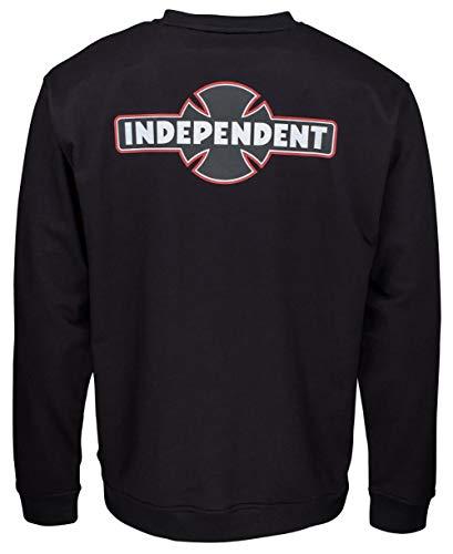 Independent Crew Dual Pinline O.G.B.C Crew Sweatshirt LEGGERISSIMA, Schwarz Medium