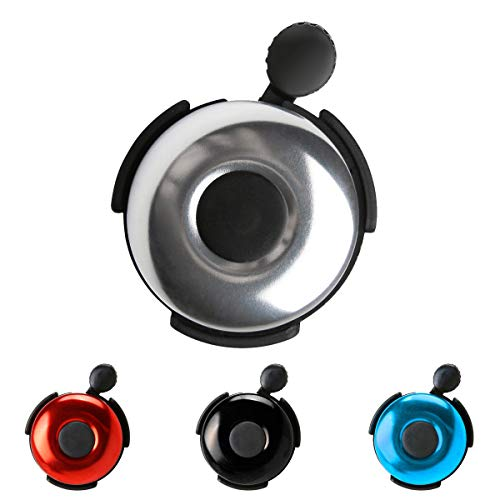 AD Bicycle Bell - Aluminum Bike Bell Ring - Classic Bicycle Bell for Adults Men Women Kids Girls Boys Bikes - Mountain Bike Accessories - Chrome