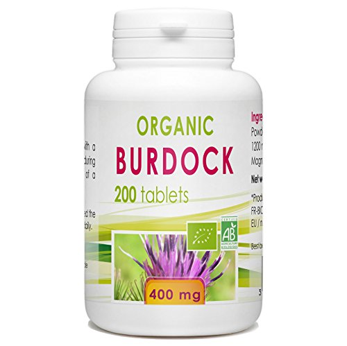 Organic Burdock 400mg - 200 tablets