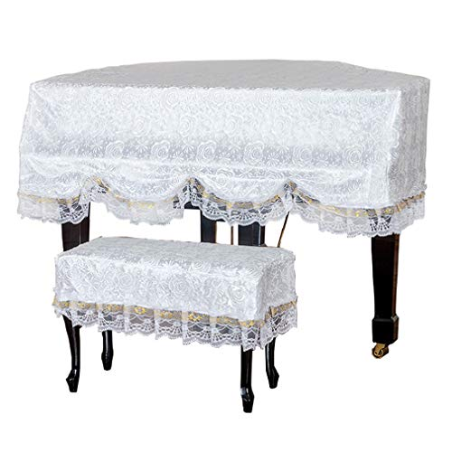 Amazing Deal Piano cover Grand Simple European Style Lace Material (Color : Double Stool, Size : Mor...