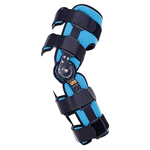 BDXZJ ROM-Kniebandage mit Scharnier, Verstellbares Scharnier ROM Knieorthese Unterstützung für ACL/Ligament/Sportverletzungen, Leichte Arthrose (OA) L