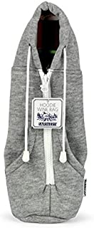 Hoodie Wine Carrier ( Grey ) - Wine Bottle Koozie Makes the Perfect Gift For Any Occasion - Replace The Wine Bag With this Stylish Wine Tote