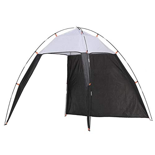 ZALE Multipurpose Sunshades, Portable Triangle Canopy For 4-8 People Sun Screens For Patio, Summer Windproof Sunshade for Beach Hut Tent Camping Fishing Sun protection (Farbe : Black Grey)