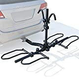 Leader Accessories 2-Bike Platform Style Hitch Mount Bike Rack, Tray Style Bicycle Carrier Racks for Cars, Trucks, SUV and Minivans with 2' Hitch Receiver - Quick Hitch Pins Design, Un-Foldable