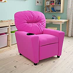pink recliner for kids
