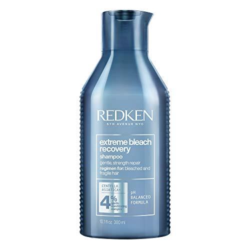 Redken Extreme Bleach Recovery Shampoo mit Cica, Anti-Haarbruch-Pflege, Pflegeshampoo für blondiertes, strapaziertes Haar, pflegt und repariert trockenes und geschädigtes Haar, 300 ml